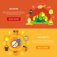 Ensemble de bannières de lutte contre les incendies
