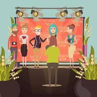 Composition d'un entretien avec un défilé de mode