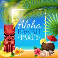 Cadre de fête hawaïenne vecteur
