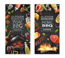 Bannières verticales barbecue pique-nique