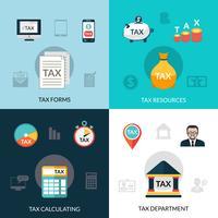 Ensemble d'icônes d'impôt vecteur