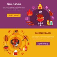 grill chiken sur plat de fête barbecue vecteur