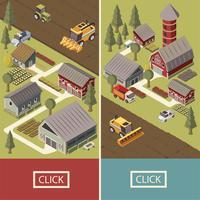 Bannières isométriques pour véhicules agricoles