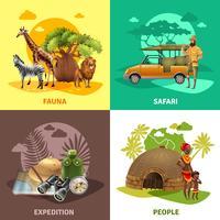 jeu d'icônes de conception safari