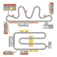 Jeu de circuit moteur vecteur