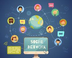 Réseautage social Personnes de différentes professions vecteur