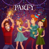 Affiche de fond de fête de fête d'anniversaire vecteur