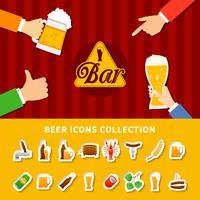 Bière Icons Set
