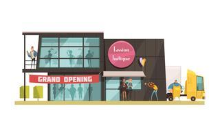 Illustration de boutique de mode vecteur