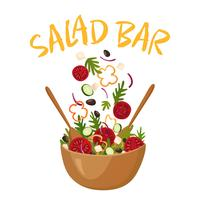 Salade Bar Vector Illustration