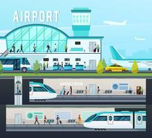 Compositions de terminal de transport
