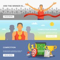 Bannières horizontales de compétition