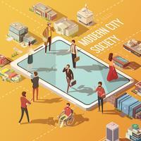 concept de société de ville vecteur
