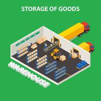Concept de stockage de marchandises vecteur