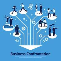 Business Confrontation Flat Graphic Design vecteur