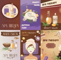 Thérapie de station thermale et affiches de bande dessinée de beauté