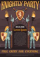 Affiche de chevalier héraldique