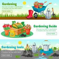 Bannières horizontales de jardinage