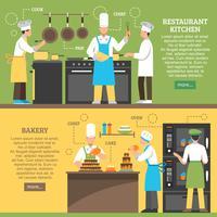 Bannières horizontales pour la cuisine professionnelle