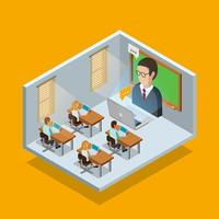 Concept de salle d'apprentissage en ligne vecteur