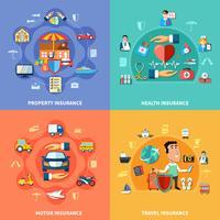 Concept plat d'assurance coloré