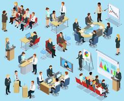 Collection isométrique de coaching d'affaires