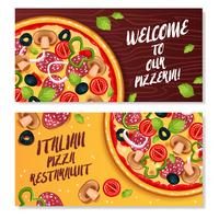 Pizza Italienne Bannières Horizontales