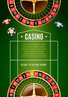 Affiche de publicité de jeu de casino classique de roulette