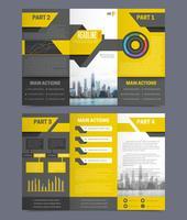 Modèles de prospectus de rapport d'entreprise vecteur