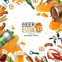 Modèle de festival de bière vecteur