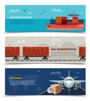 Bannières horizontales de transport vecteur