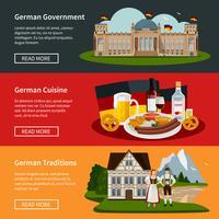 Bannières horizontales plates en Allemagne