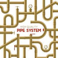 Contexte du système de tuyaux vecteur