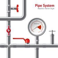 Contexte du système de tuyaux en plastique vecteur
