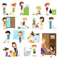 Kit de nettoyage pour enfants vecteur