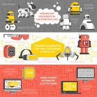 Bannières horizontales d'intelligence artificielle