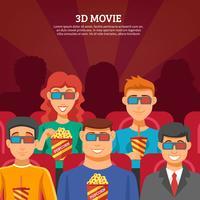 Concept de design de spectateurs de cinéma vecteur