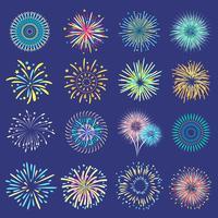 Boules de fête sur fond bleu foncé vecteur