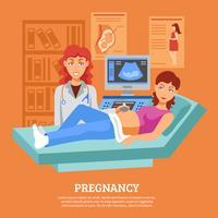 Affiche de vérification des ultrasons enceinte