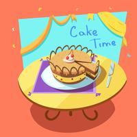 Illustration de dessin animé de boulangerie vecteur