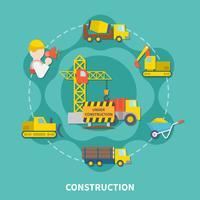 Modèle plat de construction de bâtiment