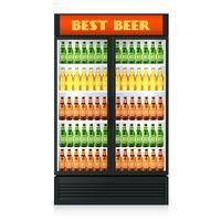 Réfrigérateur vertical réaliste