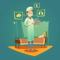 Médecin et soins de haute technologie vecteur