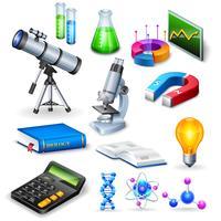 science réaliste icônes définies