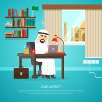 Affiche du travailleur arabe vecteur