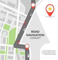 Concept de navigation routière vecteur