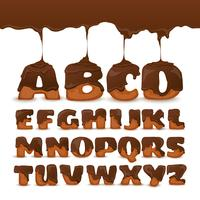 Collection de biscuits de chocolat de fonte d'alphabet
