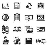 Élections Voter Icons Black Set