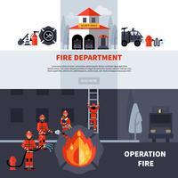 Bannières du service d'incendie