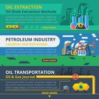Ensemble de bannière de l'industrie pétrolière